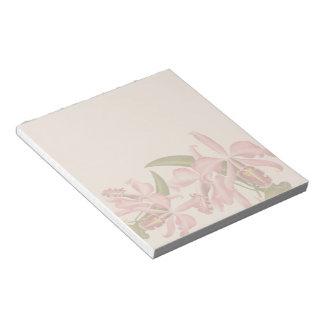 La orquídea del vintage florece la libreta libreta para notas