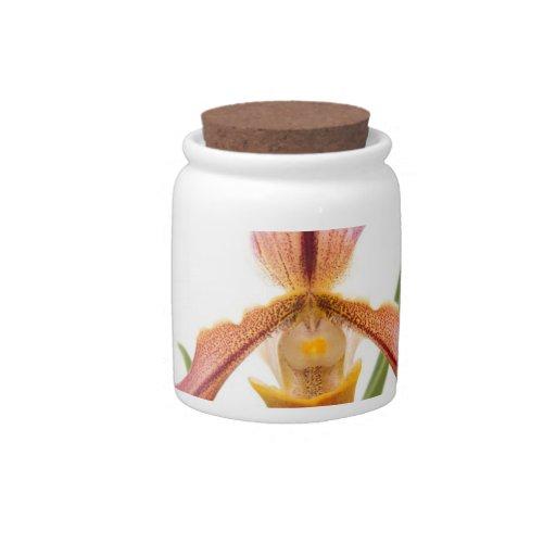 La orquídea - el deslizador cabrá jarra para caramelo