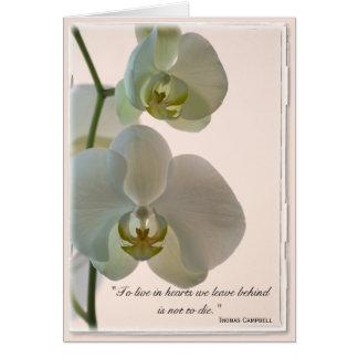 La orquídea elegante le agradece por su nota de la tarjeta de felicitación