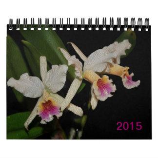 La orquídea exótica magnífica florece 2015 calendario de pared