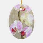 La orquídea florece el ornamento ornamento para arbol de navidad