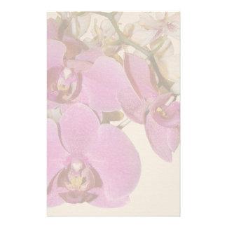 La orquídea florece los efectos de escritorio  papeleria