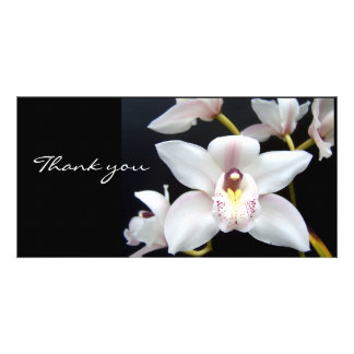 La orquídea hermosa le agradece tarjetas fotograficas