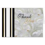 La orquídea que casa blanco le agradece con clase tarjetas