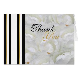 La orquídea que casa blanco le agradece con clase tarjeta pequeña