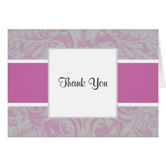 La orquídea radiante y el boda elegante gris le tarjeta pequeña