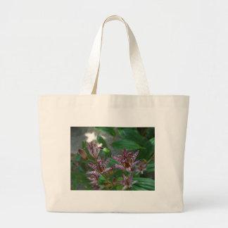 La orquídea rayada blanca rosada púrpura tiene gus bolsas de mano