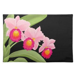 La orquídea rosada de Cattleya florece Placemat Mantel Individual