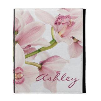 La orquídea rosada del Cymbidium personalizó la ca