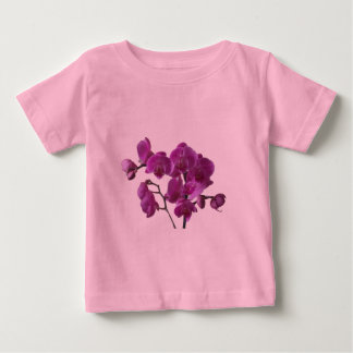 La orquídea rosada florece la camiseta infantil playera