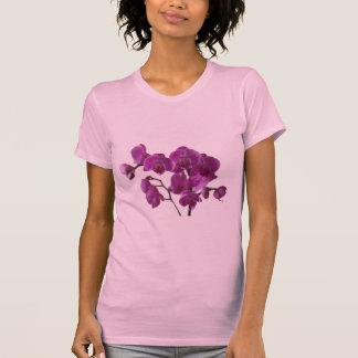 La orquídea rosada florece la camiseta playeras