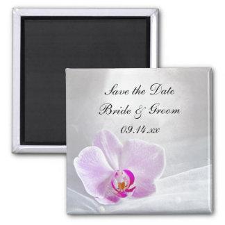 La orquídea rosada y el boda del velo ahorran el i iman
