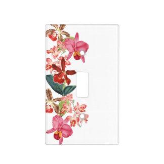 La orquídea tropical de la isla florece floral cubierta para interruptor