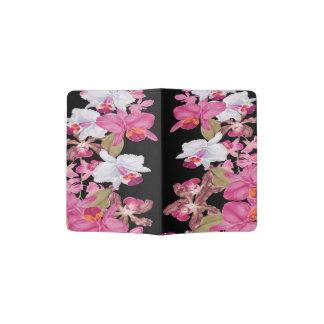 La orquídea tropical de las islas florece floral porta pasaporte