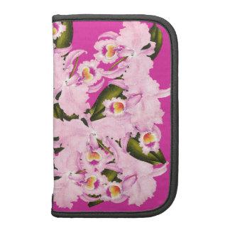 La orquídea tropical florece el folio floral de planificador