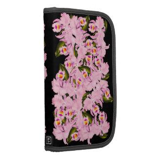 La orquídea tropical florece el folio floral de organizador