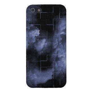 La oscuridad azulada se nubla la caja brillante de iPhone 5 funda