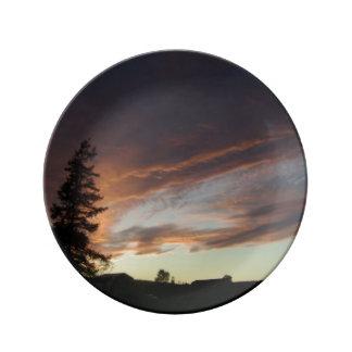 """La """"oscuridad baja"""" placa decorativa platos de cerámica"""
