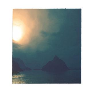 La oscuridad de la salida del sol prevalece luz blocs de notas