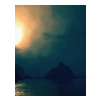 La oscuridad de la salida del sol prevalece luz membrete personalizado