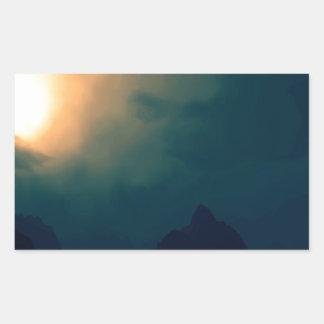 La oscuridad de la salida del sol prevalece luz rectangular altavoces