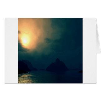 La oscuridad de la salida del sol prevalece luz felicitacion