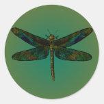 La oscuridad del ala de septiembre huye del etiqueta redonda