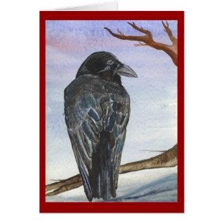 La oscuridad del cuervo tarjeton