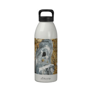 La ostra Shell en guijarro enarena Botellas De Agua Reutilizables