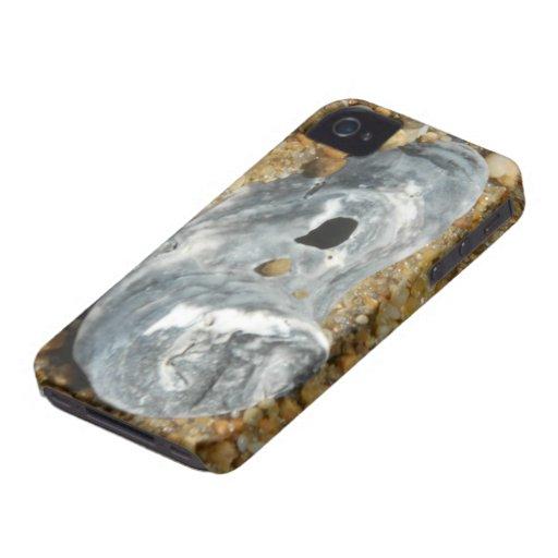 La ostra Shell en guijarro enarena Case-Mate iPhone 4 Protector