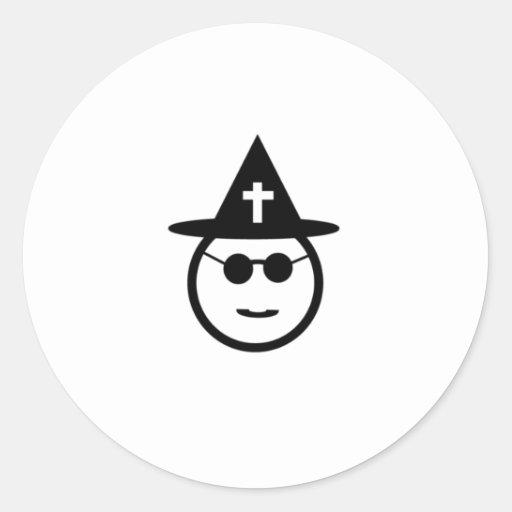 La otra bruja etiquetas redondas