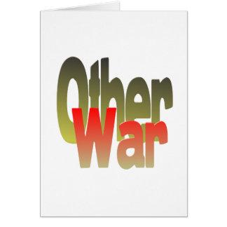 la otra guerra tarjeta de felicitación