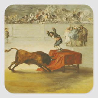 La otra locura de Martincho en el anillo de Bull Pegatina Cuadrada