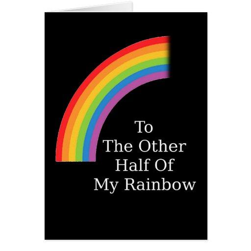 La otra mitad de mi arco iris tarjetas