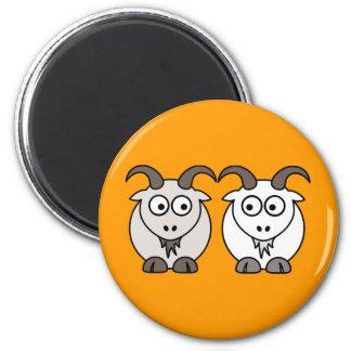 La oveja consigue mi cabra imán redondo 5 cm