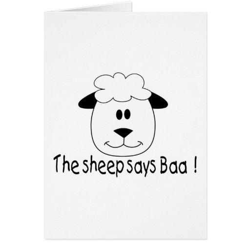 La oveja dice Baa Tarjeta De Felicitación