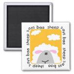 La oveja dice las camisetas y los regalos del Baa Imanes Para Frigoríficos
