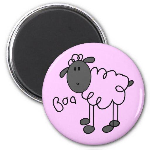 La oveja dice las camisetas y los regalos del Baa Iman De Frigorífico
