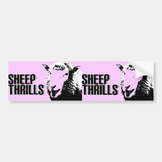 la oveja emociona a la pegatina para el parachoque etiqueta de parachoque