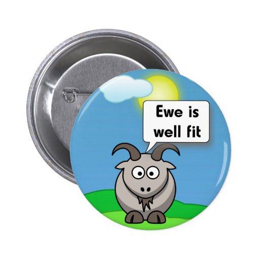 La oveja es cabra bien del ajuste pins