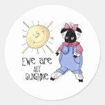 La oveja es mis pegatinas de la sol