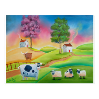 La oveja linda acobarda el arte popular G de Postales