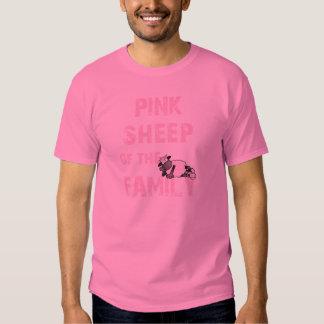 La oveja rosada junta con te todos los estilos de playera