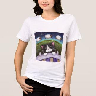 La oveja soña la manga larga de las señoras playera