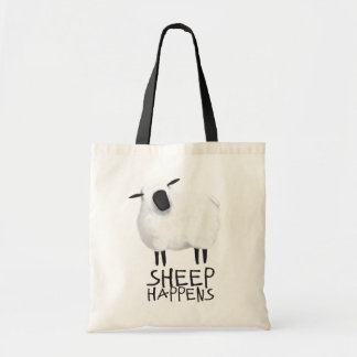 La oveja sucede bolso bolsa tela barata