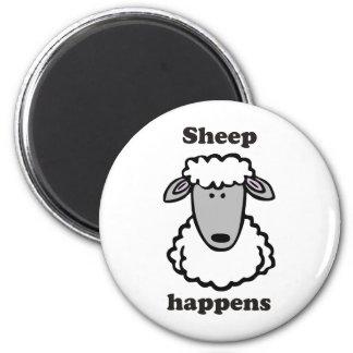 La oveja sucede imán redondo 5 cm