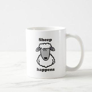La oveja sucede taza de café