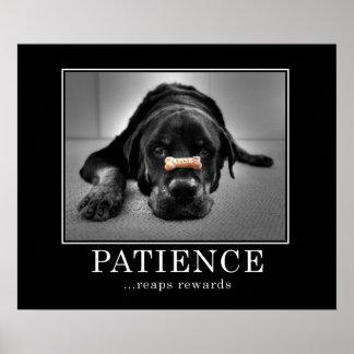 """La """"paciencia cosecha recompensas """" póster"""