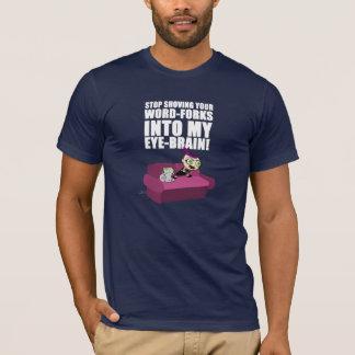 La palabra bifurca Chibi espumoso y camisa de