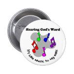 La palabra de dios es como música pin